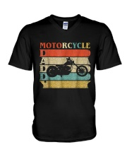 Retro Vintage Daddy Motorcycle T-Shirt Bike - Bike V-Neck T-Shirt front