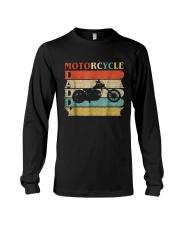 Retro Vintage Daddy Motorcycle T-Shirt Bike - Bike Long Sleeve Tee thumbnail
