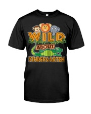 Wild About Kindergarten Back to School Classroom Classic T-Shirt thumbnail