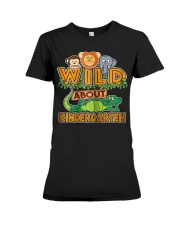 Wild About Kindergarten Back to School Classroom Premium Fit Ladies Tee thumbnail