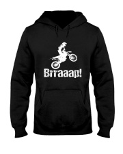 Brraaap Funny Dirt Bike Motocross Hooded Sweatshirt thumbnail