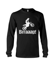 Brraaap Funny Dirt Bike Motocross Long Sleeve Tee thumbnail