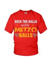 Deck The Halls With Matzo Balls - Jewish Hanukkah Youth T-Shirt thumbnail