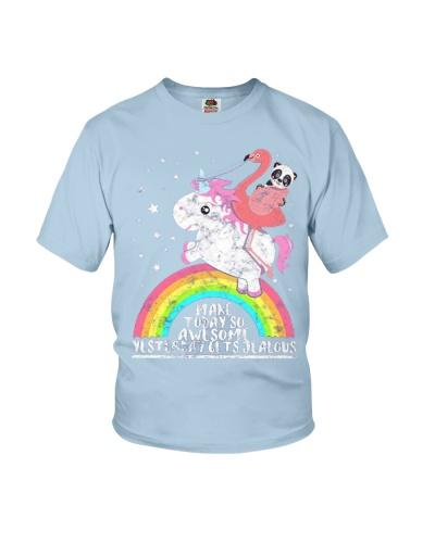 Unicorn Flamingo Rainbow Panda Make Today Awesome