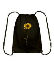Childhood Cancer Awareness Sunflower Drawstring Bag thumbnail