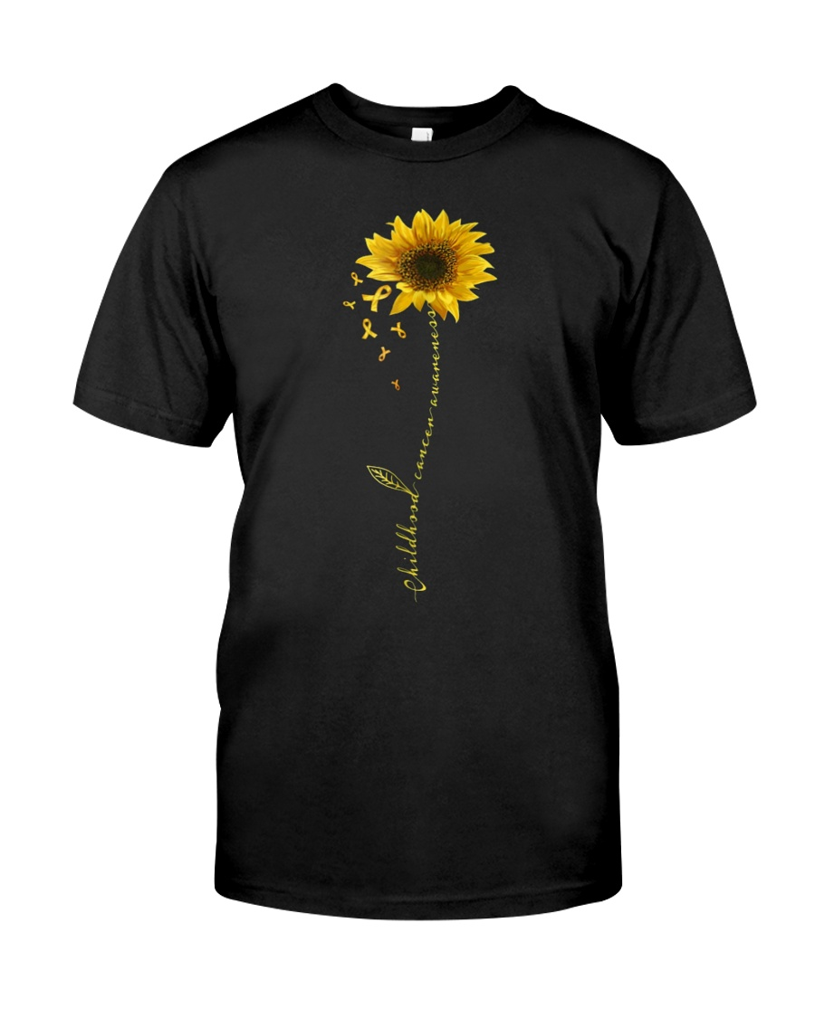 Childhood Cancer Awareness Sunflower Classic T-Shirt