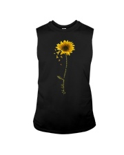 Childhood Cancer Awareness Sunflower Sleeveless Tee thumbnail