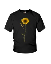 Childhood Cancer Awareness Sunflower Youth T-Shirt thumbnail