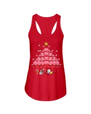 Santa Flamingo Christmas Tree Ping Ladies Flowy Tank thumbnail