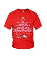 Santa Flamingo Christmas Tree Ping Youth T-Shirt thumbnail