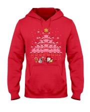Santa Flamingo Christmas Tree Ping Hooded Sweatshirt thumbnail