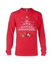 Santa Flamingo Christmas Tree Ping Long Sleeve Tee thumbnail