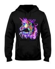 Colorful Rainbow Cute Unicorn Festival Rave Hooded Sweatshirt thumbnail