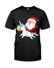 Santa Claus Unicorn Christmas Classic T-Shirt thumbnail