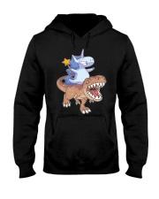 Unicorn riding T-rex dinosaur Hooded Sweatshirt thumbnail