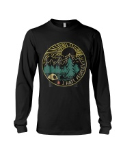 Love camping i hate people shirt moutain hiking  Long Sleeve Tee thumbnail