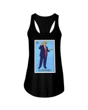 Trump El Pendejo Loteria Card Ladies Flowy Tank thumbnail