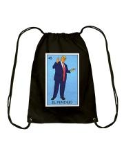 Trump El Pendejo Loteria Card Drawstring Bag thumbnail