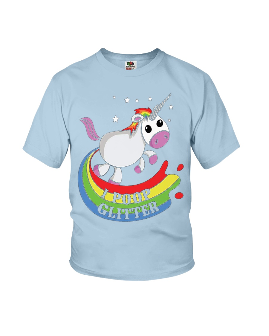 I Poop Glitter - Unicorn Youth T-Shirt
