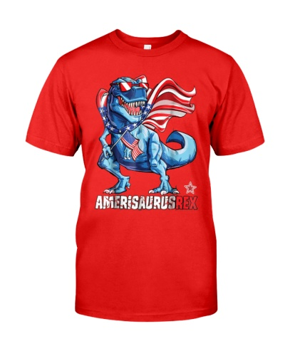 Dinosaur 4th of July - Kids Boys Men Amerisaurus