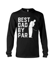 Mens Father's Day Best Dad By Par Funny Golf Lover Long Sleeve Tee thumbnail