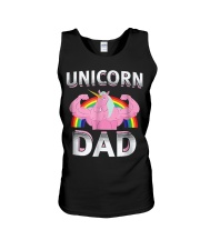 Unicorn Dad - Rainbow Unisex Tank thumbnail