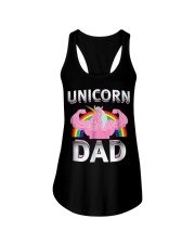 Unicorn Dad - Rainbow Ladies Flowy Tank thumbnail