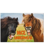 "NICE UNDERWEAR FUNNY GIFT FOR HORSE LOVERS Doormat 34"" x 23"" front"