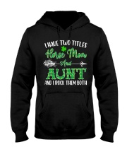 TWO TITLES HORSE MOM AND AUNT Hooded Sweatshirt front