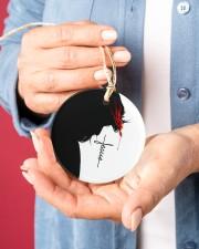Love Jesus Circle ornament - single (porcelain) aos-circle-ornament-single-porcelain-lifestyles-01