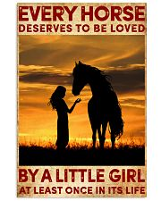 HORSE DESERVES TO BE LOVED BY A LITTLE GIRL 24x36 Poster front