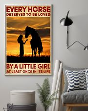 HORSE DESERVES TO BE LOVED BY A LITTLE GIRL 24x36 Poster lifestyle-poster-1