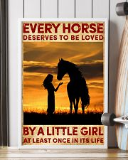 HORSE DESERVES TO BE LOVED BY A LITTLE GIRL 24x36 Poster lifestyle-poster-4