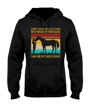 HORSES IN OUR BLOOD VINTAGE Hooded Sweatshirt front
