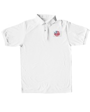 usa t shirt Classic Polo embroidery-polo-short-sleeve-layflat-front