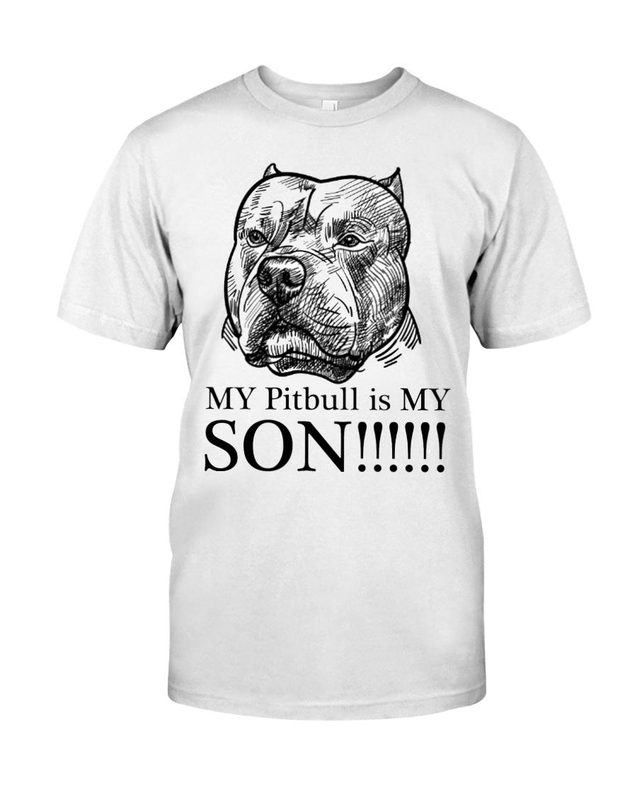 My Pitbull is my son t shirt Classic T-Shirt