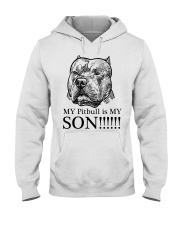 My Pitbull is my son t shirt Hooded Sweatshirt tile
