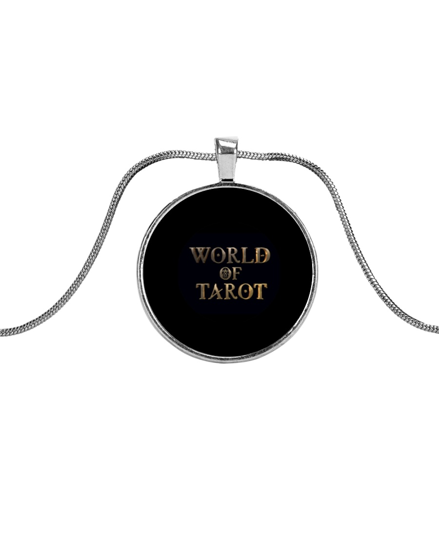 World Of Tarot Necklace Metallic Circle Necklace
