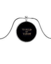 World Of Tarot Necklace Metallic Circle Necklace front