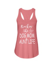 Rockin the dog mom and aunt life Ladies Flowy Tank thumbnail