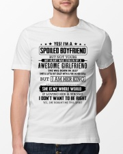 yes i'm a spoiled boyfriend - but not yours Classic T-Shirt lifestyle-mens-crewneck-front-13