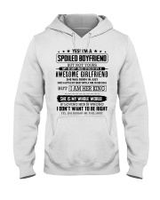 yes i'm a spoiled boyfriend - but not yours Hooded Sweatshirt thumbnail