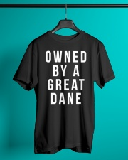 Owned by a Great Dane  Classic T-Shirt lifestyle-mens-crewneck-front-3