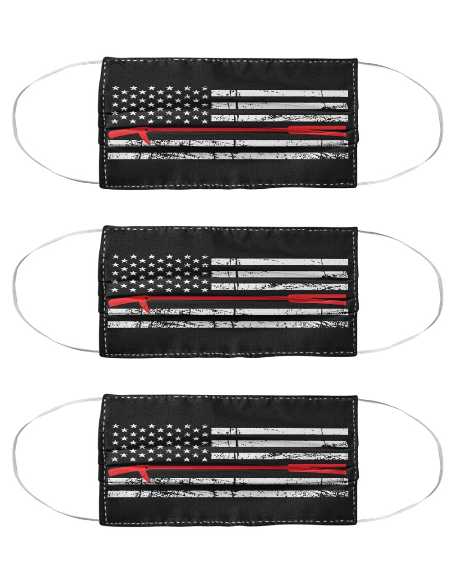 Red Thin Line - Halligan Bar Cloth Face Mask - 3 Pack