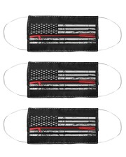 Red Thin Line - Halligan Bar Cloth Face Mask - 3 Pack front