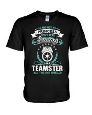 Awesome Teamster Shirt V-Neck T-Shirt thumbnail