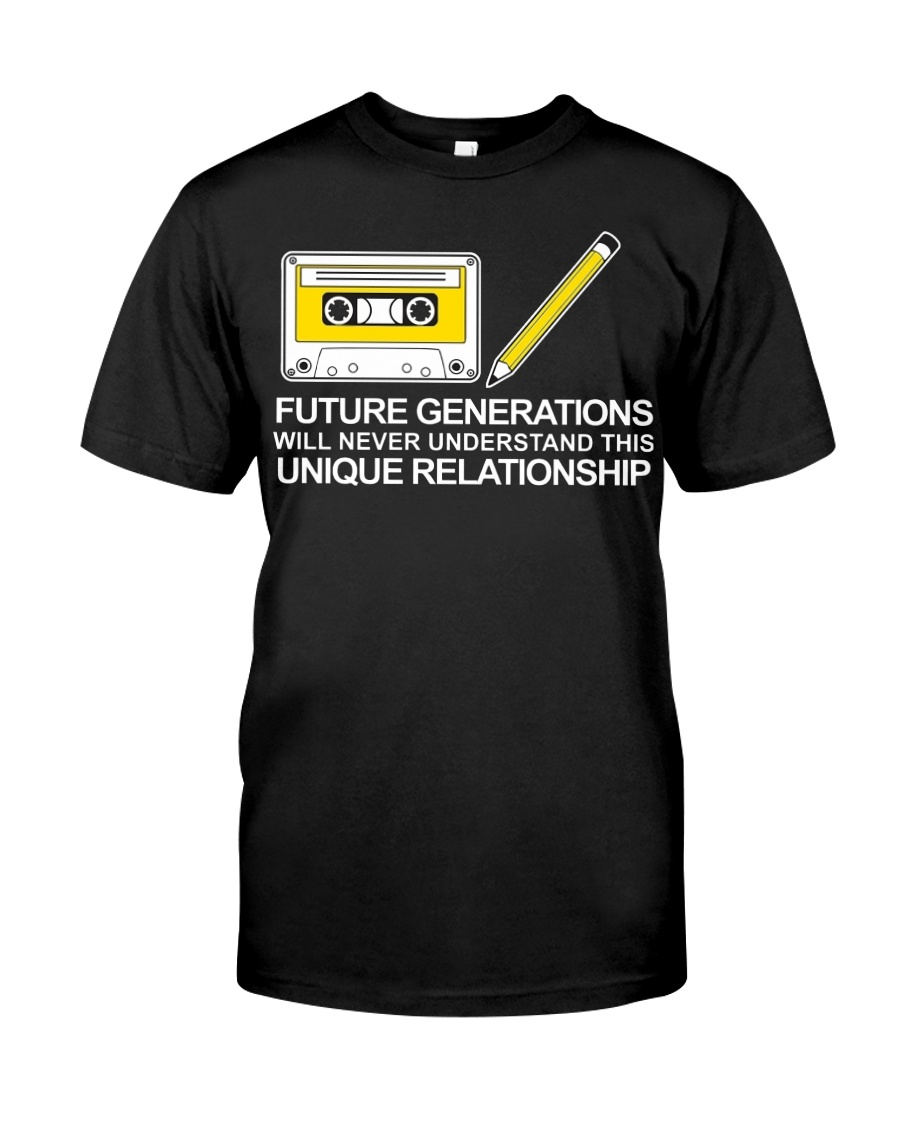 Cassette shirt with Pencil Funny Idea for Men and  Classic T-Shirt