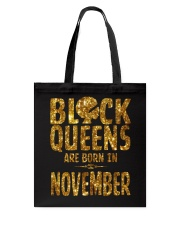 Black Queens Are Born in November Tote Bag thumbnail
