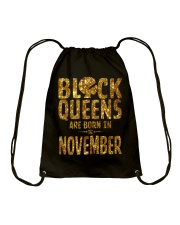 Black Queens Are Born in November Drawstring Bag thumbnail