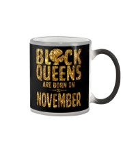 Black Queens Are Born in November Color Changing Mug thumbnail